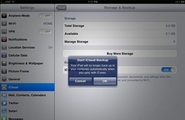 Восстановить резервную копию из iCloud