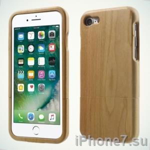 Деревянный чехол для iPhone 7