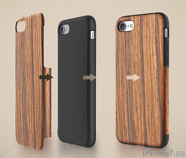 Деревянный чехол для iPhone 7 и 7 Plus