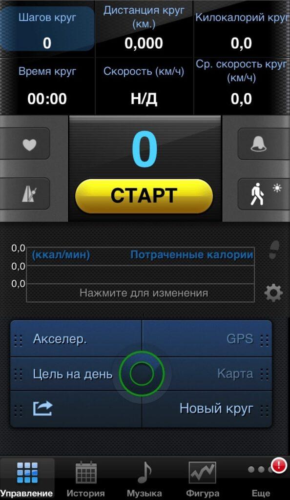 шагомер на iPhone