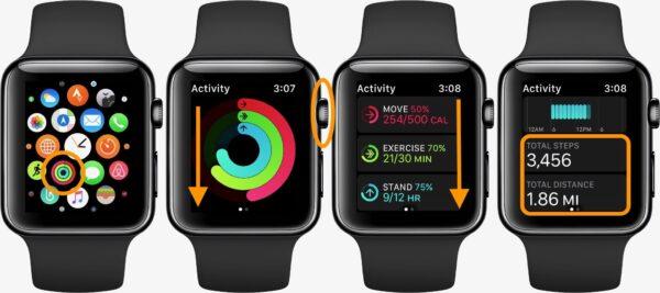 Как подсчитать количество пройденных шагов в Apple Watch