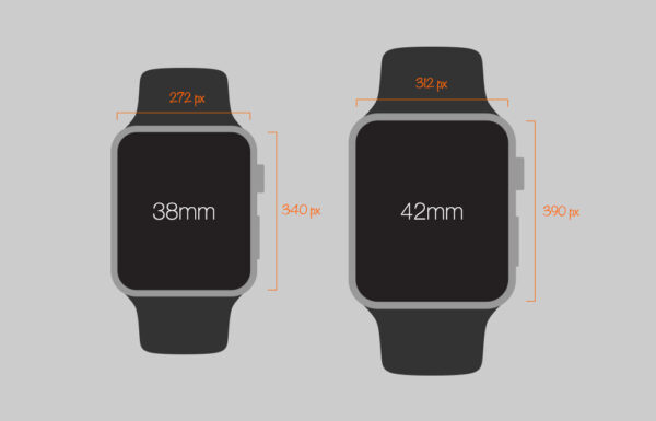 размер экрана на Apple Watch