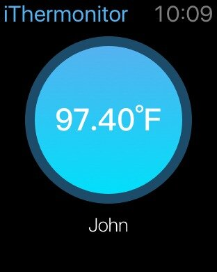 Apple Watch приложение iThermonitor