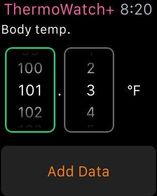 Apple Watch измерение температуры тела