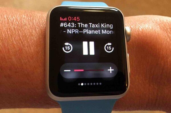 подкасты на смарт-часах Apple Watch