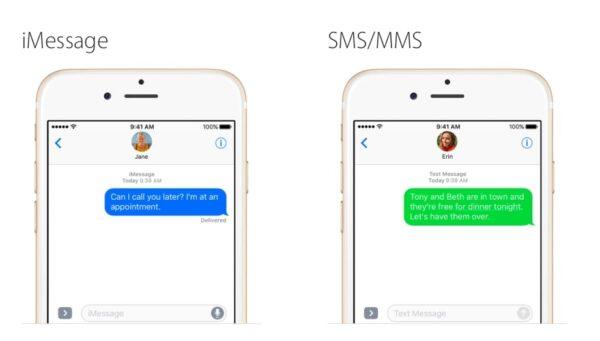 Разница между IMessage и SMS