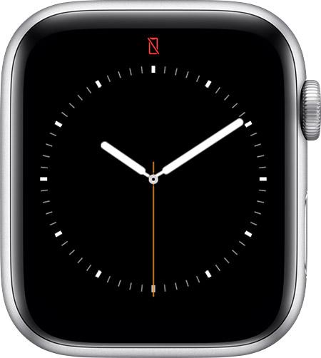 Красный перечёркнутый телефон в Apple Watch