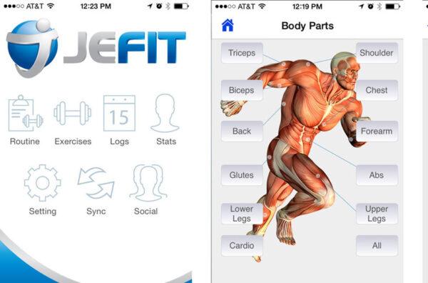 приложение Jefit